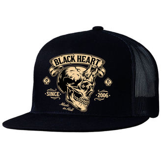 BLACK HEART sapka - DEVIL SKULL - FEKETE, BLACK HEART