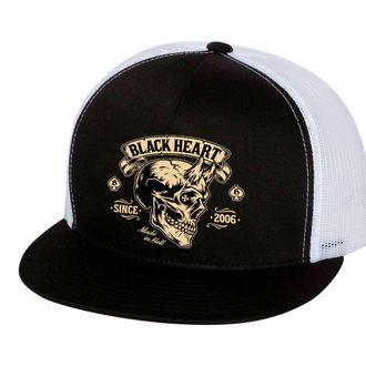 BLACK HEART sapka - DEVIL SKULL - FEHÉR, BLACK HEART