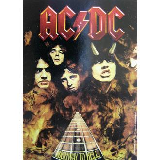 AC-DC 'Highway To Hell' zászló HFL 746, HEART ROCK, AC-DC