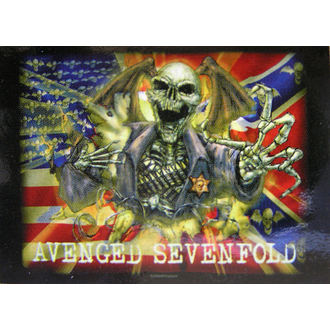 zászló Avenged Sevenfold - Confederate, HEART ROCK, Avenged Sevenfold
