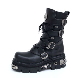 bőr csizma - Basic Boots (373-S4) Black - NEW ROCK, NEW ROCK