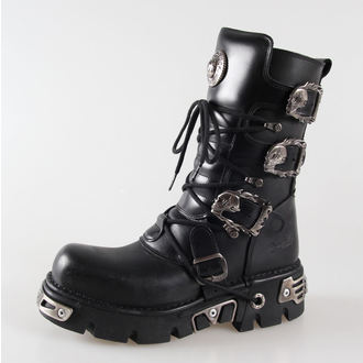 bőr csizma - Metal Boots (391-S1) Black - NEW ROCK, NEW ROCK