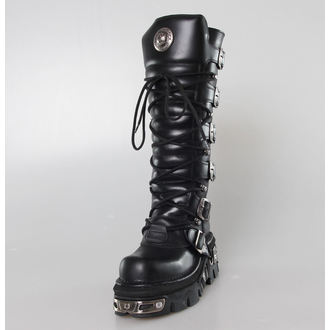 bőr csizma - 6-Buckle Boots (272-S1) Black - NEW ROCK, NEW ROCK