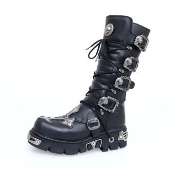 bőr csizma - Cross Boots (403-S1) Black - NEW ROCK, NEW ROCK