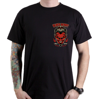 utcai póló férfi - DEVIL SKULL - BLACK HEART, BLACK HEART
