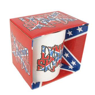 bögre Lynyrd Skynyrd - Confederate logo WHT, ROCK OFF, Lynyrd Skynyrd
