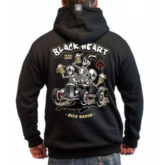 kapucnis pulóver férfi - BEER BARON - BLACK HEART, BLACK HEART