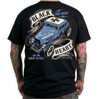 utcai póló férfi - HOT ROD BRUISER - BLACK HEART, BLACK HEART