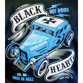 kapucnis pulóver férfi - BRUISER - BLACK HEART, BLACK HEART