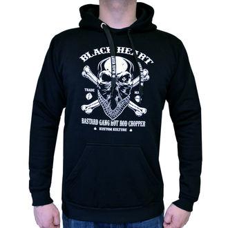 kapucnis pulóver férfi - ROBBER - BLACK HEART, BLACK HEART