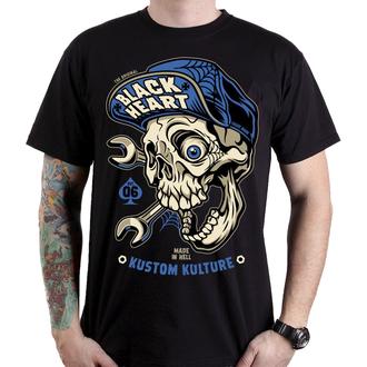 utcai póló férfi - MECHANIC - BLACK HEART, BLACK HEART