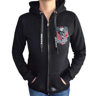 kapucnis pulóver női - DEVIL ROSE - BLACK HEART, BLACK HEART