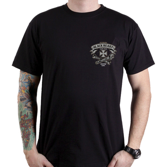 tričko pánské BLACK HEART - BH KUSTOM KING - BLACK, BLACK HEART