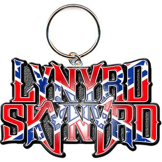kulcstartó - kulcstartó Lynyrd Skynyrd (Flag Logo) - ROCK OFF, ROCK OFF, Lynyrd Skynyrd