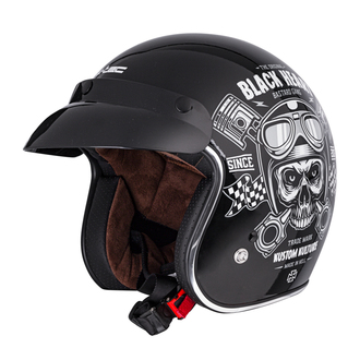 BLACK HEART Sisak - PISTON SKULL - FEKETE, BLACK HEART