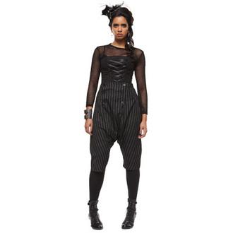trousers női 3/4 HELL BUNNY 'Napoleon trousers black/white pinstri' 5213, HELL BUNNY