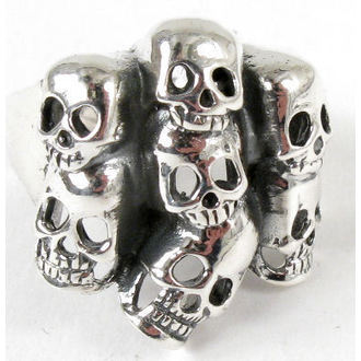 gyűrű ezüst Koponya - BR 30