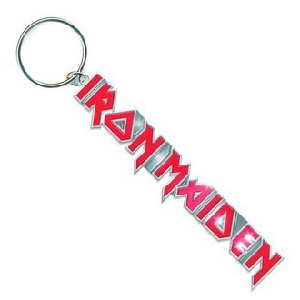 kulcstartó (kulcstartó) Iron Maiden - Logo with Tails Key Chain - ROCK OFF, ROCK OFF, Iron Maiden
