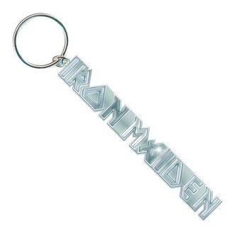 Iron Maiden kulcstartó - Logo with No Tails Key Chain - ROCK OFF, ROCK OFF, Iron Maiden