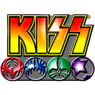 kitűző Kiss - Logo Icons pin badge - ROCK OFF, ROCK OFF, Kiss