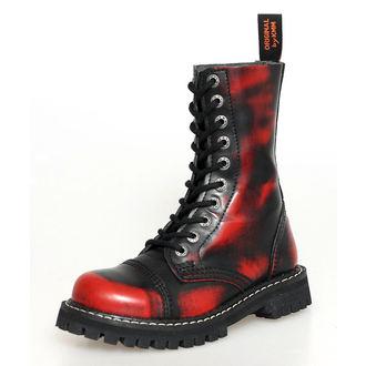 bőr csizma - - KMM - Red/Black-100