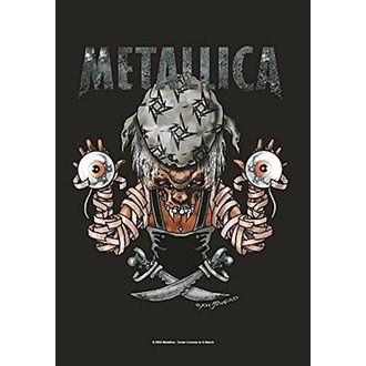Metallica Zászló - Pirate, HEART ROCK, Metallica