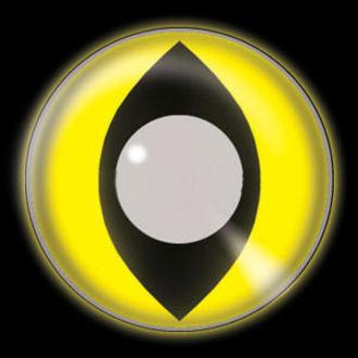 set kontakt lencse Glow Yellow Cat UV és fertőtlenítő készlet - EDIT, EDIT