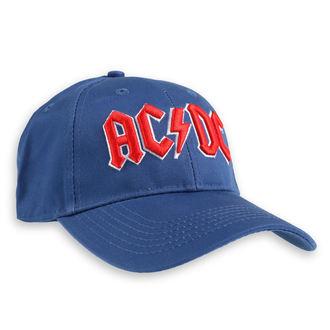 AC  /  DC Sapka  - Red Logo Mid-Blue - ROCK OFF, ROCK OFF, AC-DC
