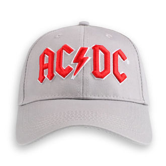 AC  /  DC Sapka - Red Logo Grey - ROCK OFF, ROCK OFF, AC-DC