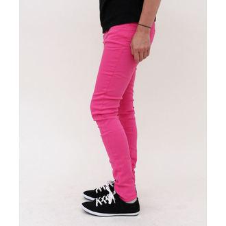 nadrág női HELL BUNNY - Super Skinny - Pink, HELL BUNNY