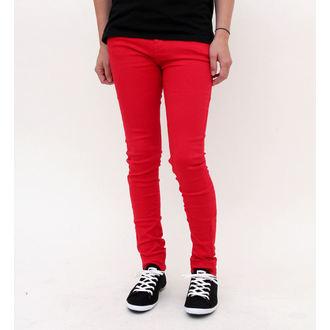nadrág női HELL BUNNY - Super Skinny - Red, HELL BUNNY