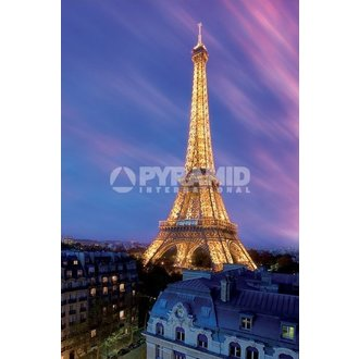 poszter Eiffel Tower At Dusk - Pyramid Posters, PYRAMID POSTERS
