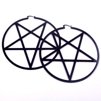 KILLSTAR fülbevaló - Pentagram Hoop - Black