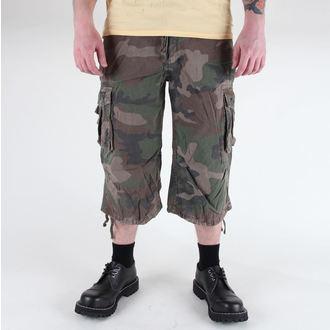 rövidnadrág férfi 3/4 MIL-TEC - Air Combat - Prewash Woodland, MIL-TEC