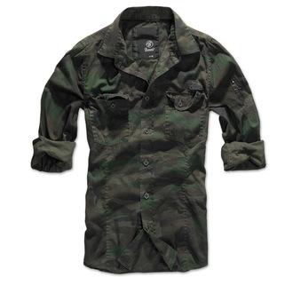 ing férfi Brandit - Men Shirt Slim - Woodland, BRANDIT