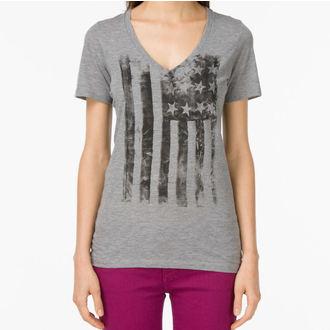 póló női VANS - G Distressed America - Grey Heather, VANS