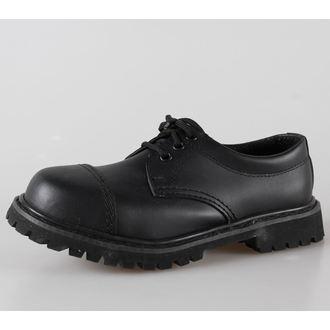 cipő bőr 3 lyukú Brandit - Phantom Black, BRANDIT