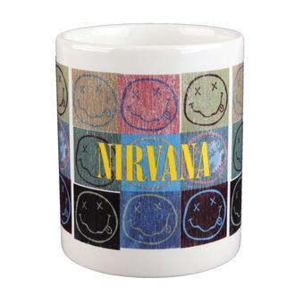 Nirvana bögre - Distressed Smiley Blocks - ROCK OFF, ROCK OFF, Nirvana