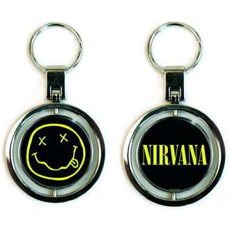 Nirvana kulcstartó - Smiley Spinner - ROCK OFF, ROCK OFF, Nirvana