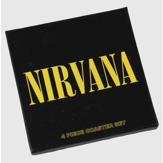 sör poháralátét Nirvana - coaster set - ROCK OFF, ROCK OFF, Nirvana