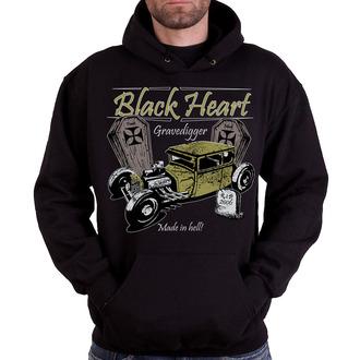 kapucnis pulóver férfi - Gravedigger - BLACK HEART - Gravedigger, BLACK HEART