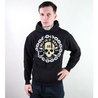 kapucnis pulóver férfi - Channin Skull - BLACK HEART - Skull, BLACK HEART