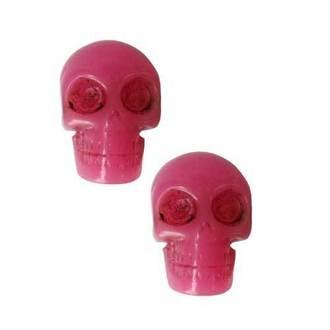 fülbevaló KREEPSVILLE SIX SIX SIX - Skull - Pink, KREEPSVILLE SIX SIX SIX