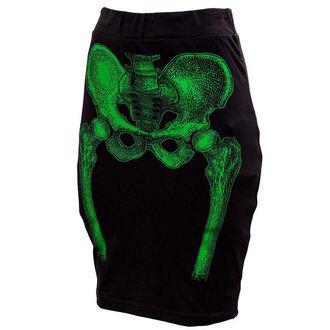 szoknya női KREEPSVILLE SIX SIX SIX - Skeleton Pencil - Green, KREEPSVILLE SIX SIX SIX