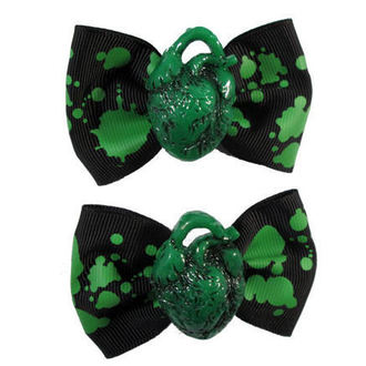 hajcsat KREEPSVILLE SIX SIX SIX - Hair Bow Hearth - Green, KREEPSVILLE SIX SIX SIX