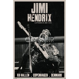 poszter Jimi Hendrix - Copenhagen - PYRAMID POSTERS, PYRAMID POSTERS, Jimi Hendrix