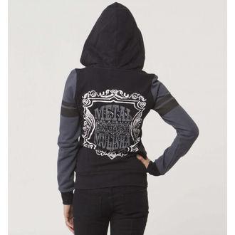 kapucnis pulóver női - Score - METAL MULISHA - Blk