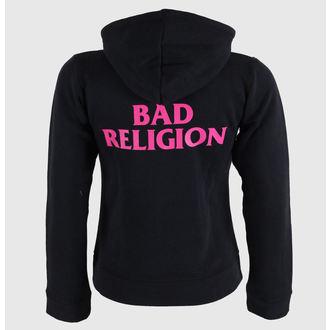 kapucnis pulóver női Bad Religion - Hot Pink - KINGS ROAD, KINGS ROAD, Bad Religion