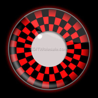 kontakt lencse RED AND BLACK CHECKERS UV - EDIT, EDIT