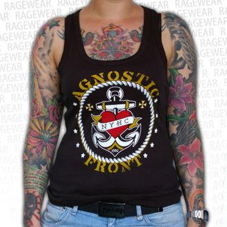 trikó női Agnostic Front - Anchor - Black - RAGEWEAR, RAGEWEAR, Agnostic Front